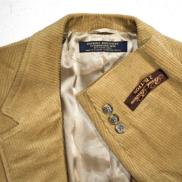 Brooks Brothers Other - NWT 42R Brooks Brothers Vintage Tan Corduroy COAT